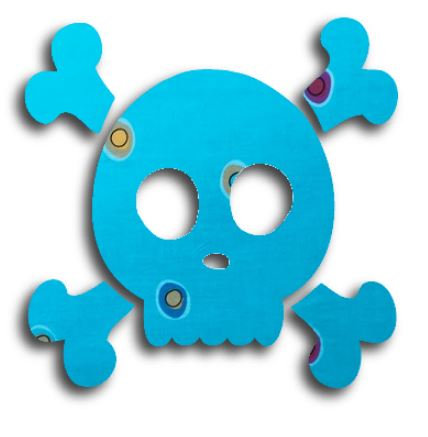 Skull & Crossbones pin board - 'spicks n specks'