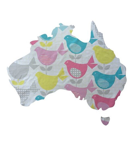 Australia Map pin board  - 'birdie num'