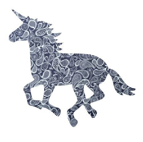Unicorn or horse pin board - 'paisley'