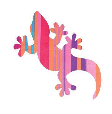 Gecko pin board - 'candy cane'