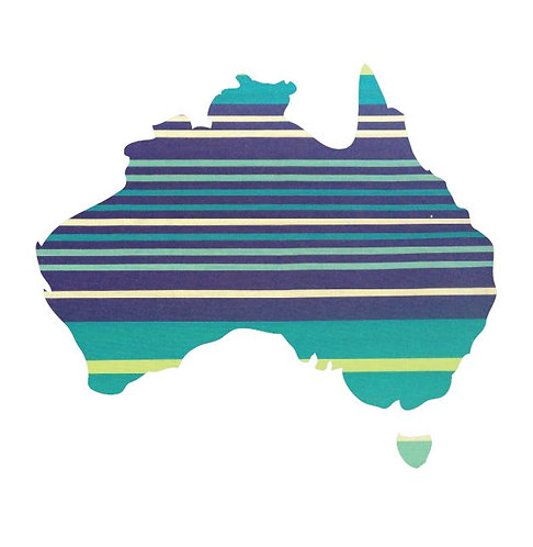 Australia Map pin board  - 'horizon'