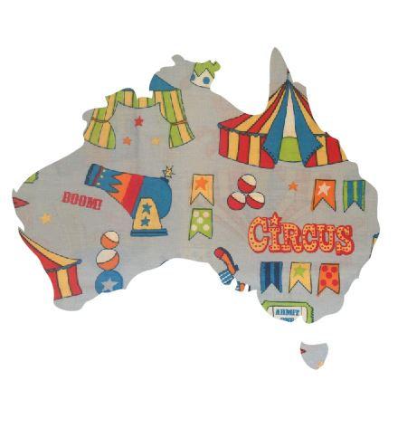 Australia Map pin board  - 'circus'