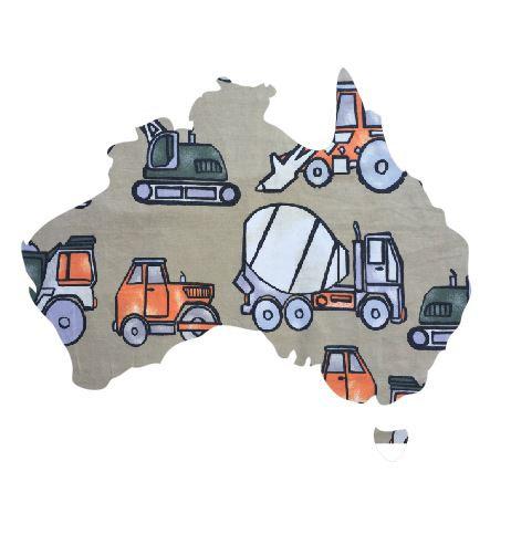 Australia Map pin board  - 'truckin'