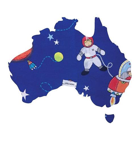 Australia Map pin board  - 'space port'