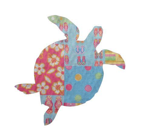 Turtle pin board - 'beach girl'
