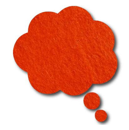 Thought bubble -'tangerine'