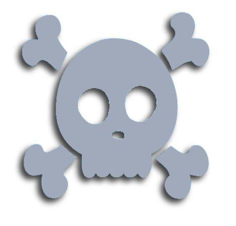 Skull & Crossbones pin board - 'cool'