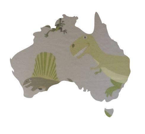 Australia Map pin board  - 'dinos alive'