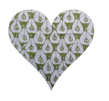 Heart pin board - 'pear party'