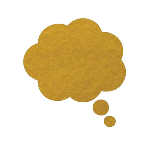 Thought bubble -'yellow'