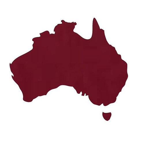 Australia Map pin board  - 'burgundy'