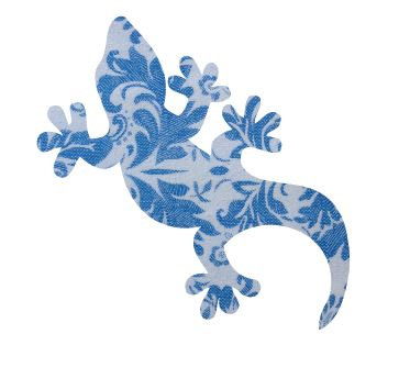 Gecko pin board - 'blue china'