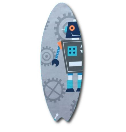 Surfboard pin board - 'rob the robot'