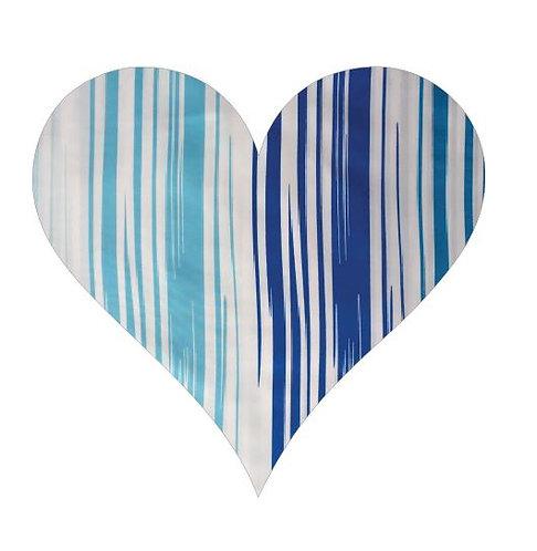 Heart pin board - 'blue streak'