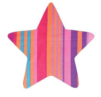 Star pin board - 'candy cane'