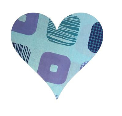 Heart pin board - 'squares'