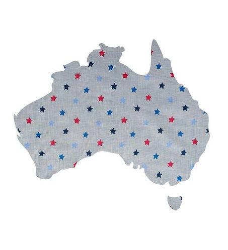 Australia Map pin board  - 'star struck'