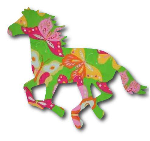 Unicorn or horse pin board - 'butterflies'