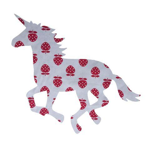 Unicorn or horse pin board - 'strawberry'