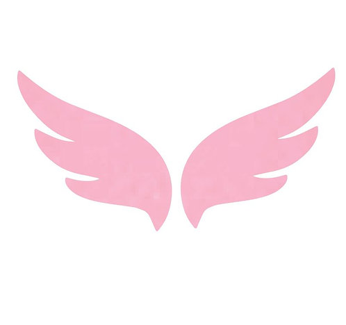 Pair of wings pin board 'soft pink'