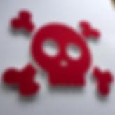 skull shaped pin board