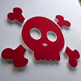skull shaped pin board