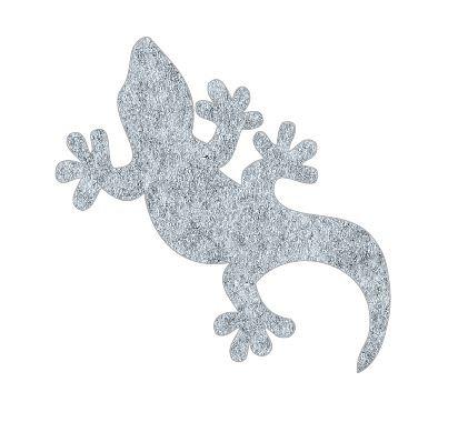 Gecko pin board - 'grey fuzz'