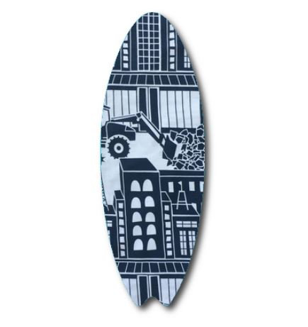 Surfboard pin board - 'digger'