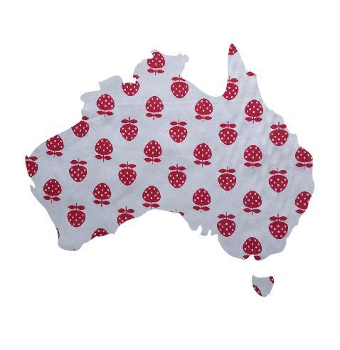 Australia Map pin board  - 'strawberry'