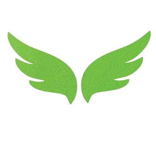 Pair of wings pin board 'green'