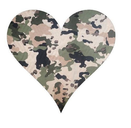 Heart pin board - 'army issue'