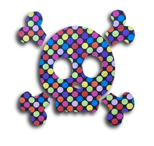 Skull & Crossbones pin board - 'bling'