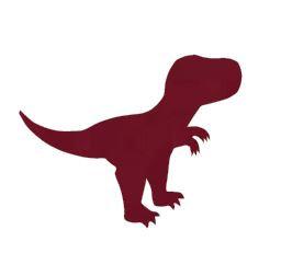 T-Rex pin board- 'burgundy'