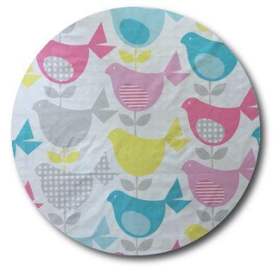 Circle pin board 'birdy num'
