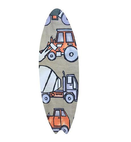 Surfboard pin board - 'truckin'
