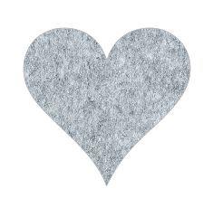 Heart pin board - 'grey fuzz'