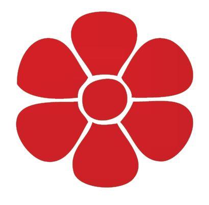 Flower pin board - 'red'