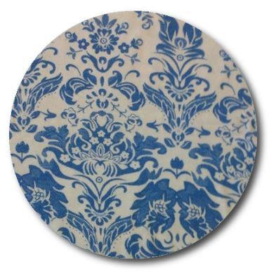 Circle pin board 'blue china'