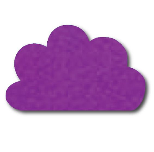 Cloud pin board - 'purple'