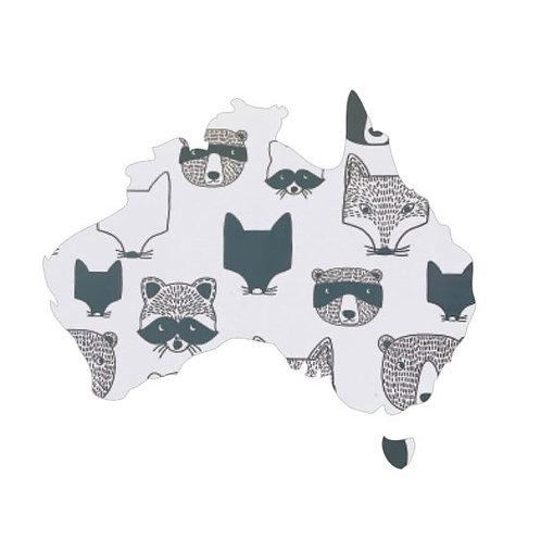 Australia Map pin board  - 'critters'