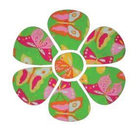 Flower pin board - 'butterflies'