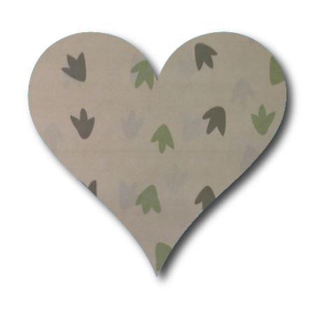Heart pin board - 'dino tracks'