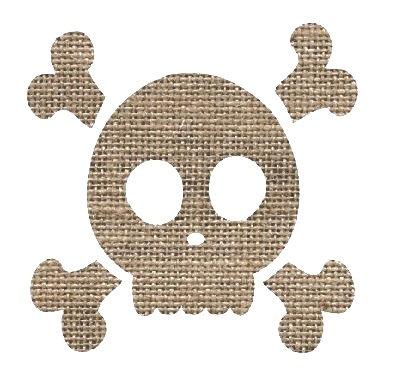 Skull & Crossbones pin board - 'sack'