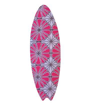 Surfboard pin board - 'pink daisy'