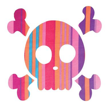 Skull & Crossbones pin board - 'candy cane'