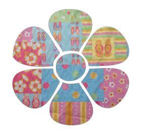 Flower pin board - 'beach girl'