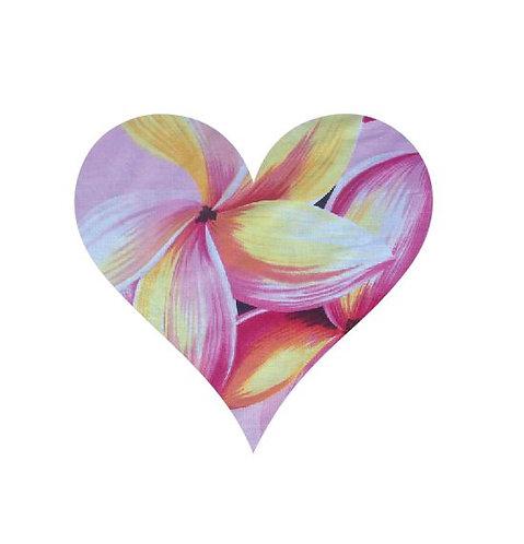 Heart pin board - 'franjipani'