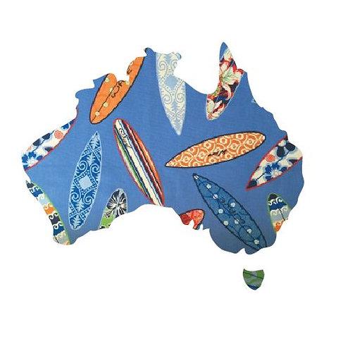 Australia Map pin board  - 'surferini sky'