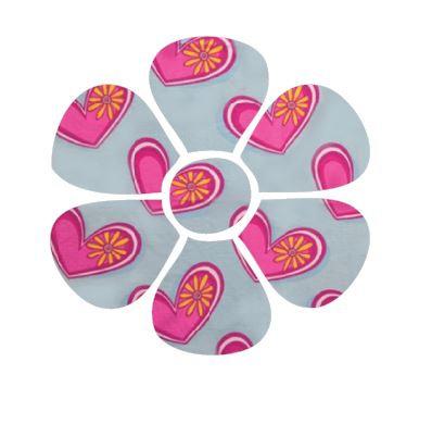 Flower pin board - 'heartness'