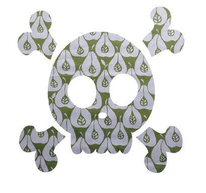 Skull & Crossbones pin board - 'pear party'